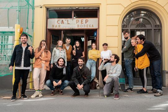 Patio del Coworking en Gràcia