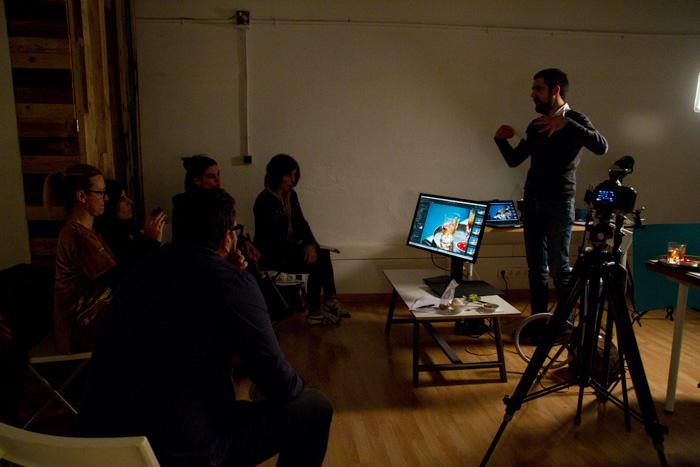 workshop de fotografia gastronomiva Marti Sans en Cadàver Exquisit